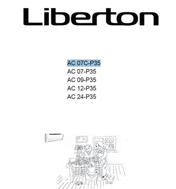 кондиционер Liberton AC 07C-P35/AC 07-P35/AC 09-P35/AC 12-P35/AC 24-P35